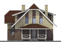 Проект кирпичного дома 71-01 фасад