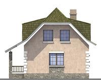 Проект кирпичного дома 71-03 фасад
