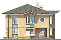 Проект кирпичного дома 71-06 фасад