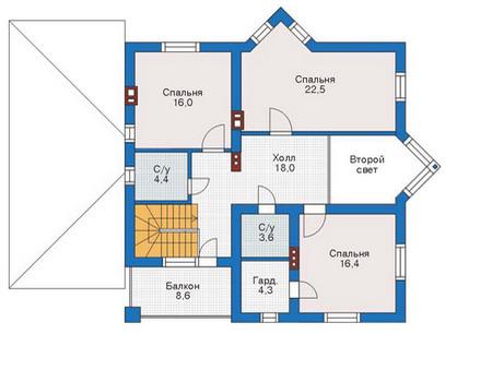 Проект кирпичного дома 71-06 план
