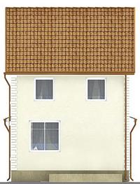 Проект кирпичного дома 71-07 фасад