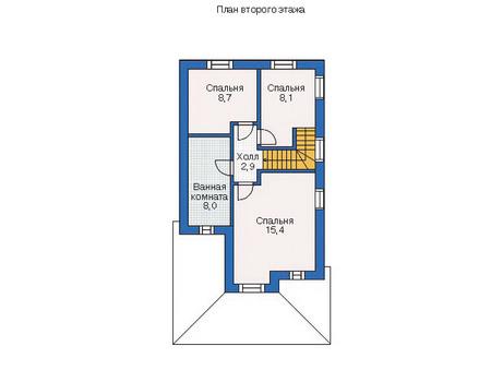 Проект кирпичного дома 71-07 план