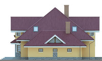 Проект кирпичного дома 71-08 фасад