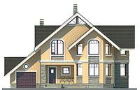 Проект кирпичного дома 71-09 фасад