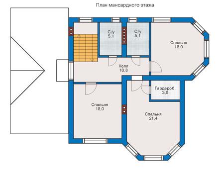 Проект кирпичного дома 71-09 план