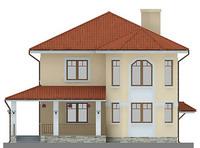 Проект кирпичного дома 71-10 фасад