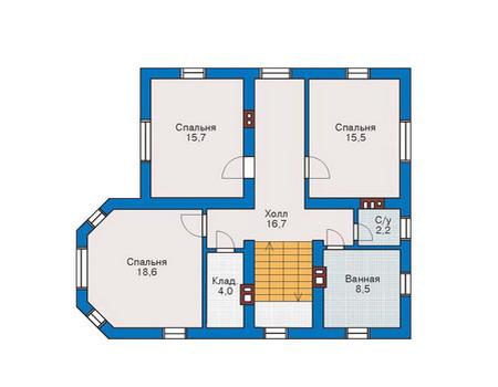 Проект кирпичного дома 71-10 план