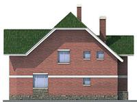 Проект кирпичного дома 71-12 фасад