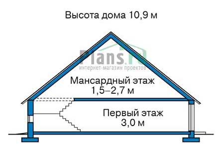Проект кирпичного дома 71-12 план