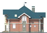 Проект кирпичного дома 71-13 фасад