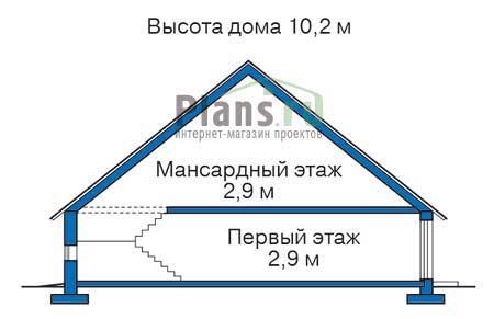 Проект кирпичного дома 71-13 план
