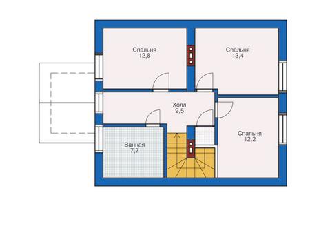 Проект кирпичного дома 71-14 план