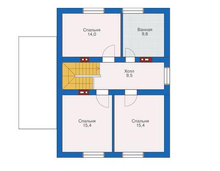 Проект кирпичного дома 71-15 план