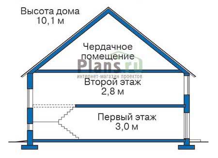Проект кирпичного дома 71-16 план