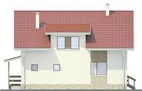 Проект кирпичного дома 71-17 фасад