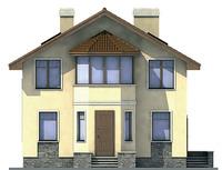 Проект кирпичного дома 71-18 фасад