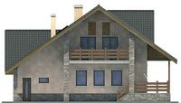 Проект кирпичного дома 71-19 фасад
