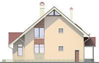 Проект кирпичного дома 71-20 фасад