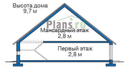 Проект кирпичного дома 71-20 план