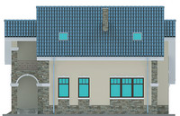 Проект кирпичного дома 71-21 фасад