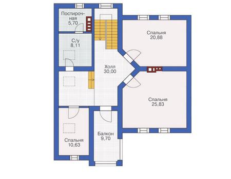 Проект кирпичного дома 71-21 план