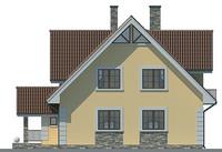 Проект кирпичного дома 71-22 фасад