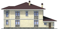 Проект кирпичного дома 71-23 фасад