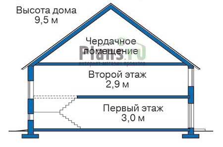 Проект кирпичного дома 71-23 план