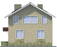 Проект кирпичного дома 71-24 фасад