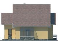 Проект кирпичного дома 71-25 фасад