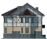Проект кирпичного дома 71-26 фасад