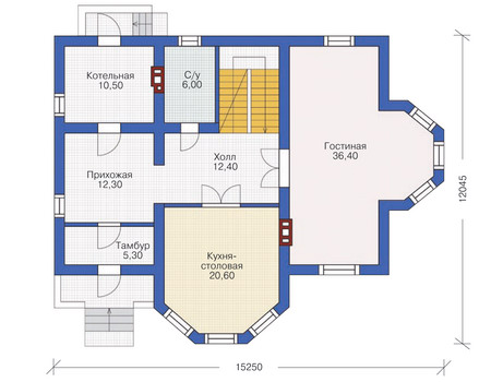 Проект кирпичного дома 71-26 план
