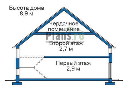 Проект кирпичного дома 71-27 план