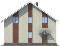 Проект кирпичного дома 71-28 фасад