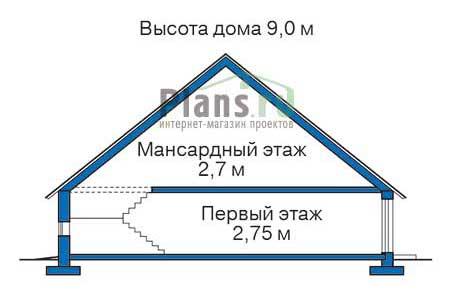 Проект кирпичного дома 71-28 план