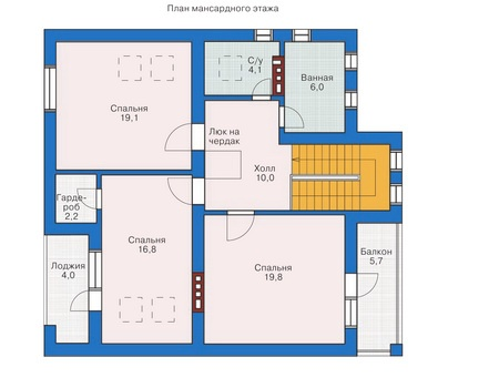 Проект кирпичного дома 71-29 план