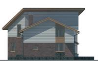 Проект кирпичного дома 71-31 фасад
