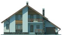 Проект кирпичного дома 71-32 фасад