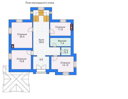 Проект кирпичного дома 71-34 план