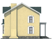 Проект кирпичного дома 71-35 фасад