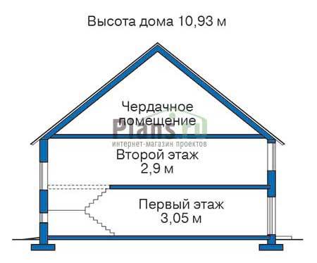 Проект кирпичного дома 71-35 план