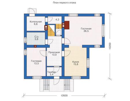 Проект кирпичного дома 71-36 план