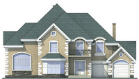 Проект кирпичного дома 71-38 фасад