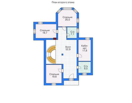 Проект кирпичного дома 71-38 план