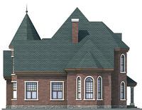 Проект кирпичного дома 71-40 фасад