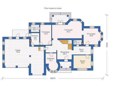 Проект кирпичного дома 71-40 план
