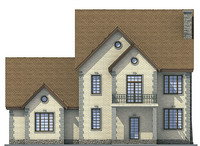 Проект кирпичного дома 71-41 фасад