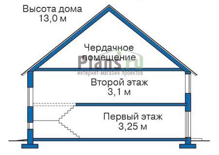 Проект кирпичного дома 71-41 план