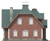 Проект кирпичного дома 71-42 фасад