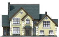 Проект кирпичного дома 71-43 фасад
